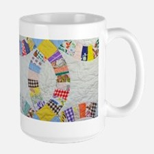 Colorful patchwork quilt Mugs