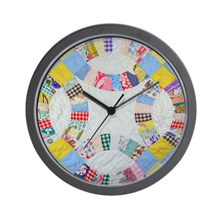 Colorful patchwork quilt Wall Clock by ADMIN_CP111190267