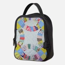 Colorful patchwork quilt Neoprene Lunch Bag
