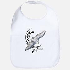 Flying Snowy Owl Bib