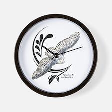 Flying Snowy Owl Wall Clock