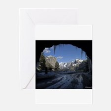 Yosemite's famous Tunnel View from Greeting Cards