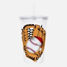 Christmas Baseball Acrylic Double-wall Tumbler