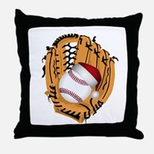 Christmas Baseball Throw Pillow