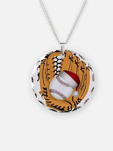 Christmas Baseball Necklace