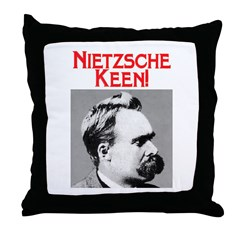 NIETZSCHE KEEN! Throw Pillow