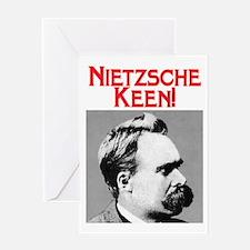 NIETZSCHE KEEN! Greeting Card