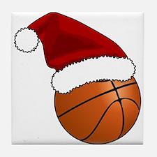 Christmas Basketball Tile Coaster