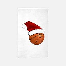 Christmas Basketball Area Rug