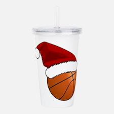 Christmas Basketball Acrylic Double-wall Tumbler
