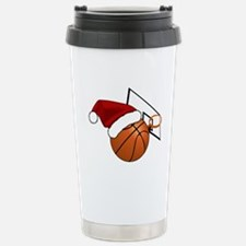 Christmas Basketball Stainless Steel Travel Mug
