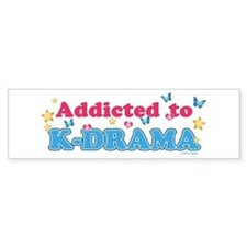 Addicted to K-Drama Bumper Sticker