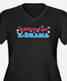 Addicted to Women's Plus Size V-Neck Dark T-Shirt