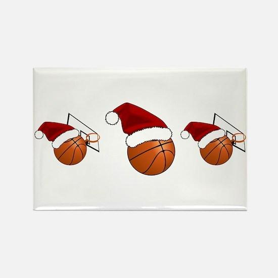 Christmas Basketball Magnets