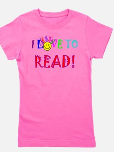 Cute I love to read Girl's Tee