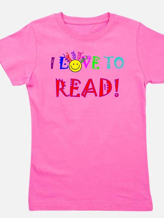 Cute Read the book Girl's Tee