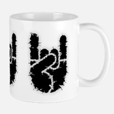 Rock Hand w/Distortion Mug