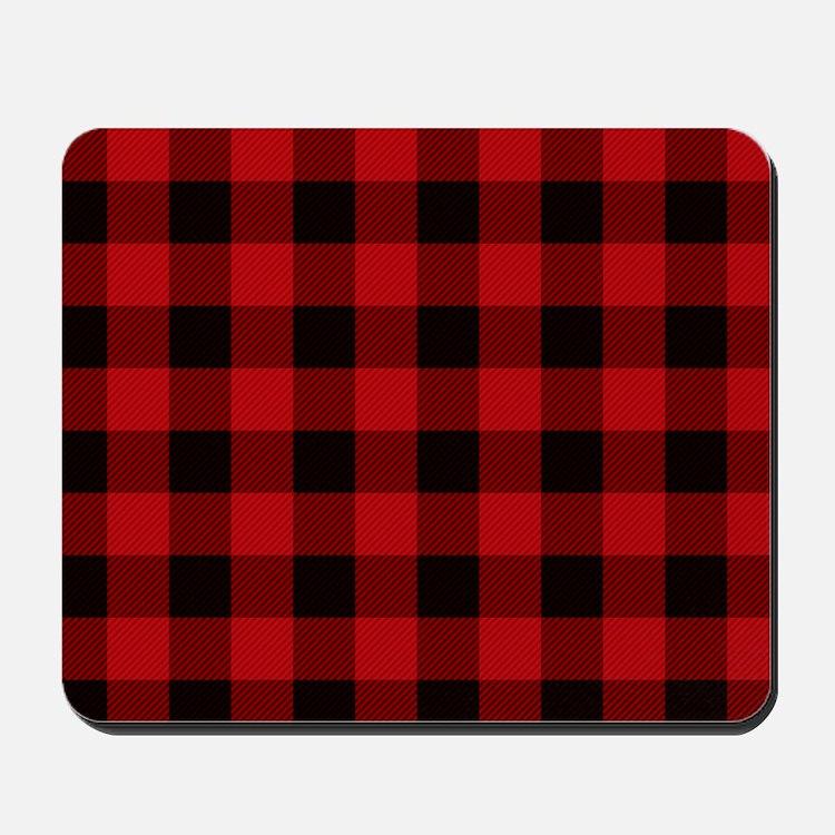 Red Plaid Mousepad