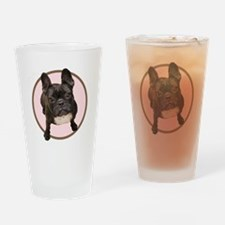 Cute French bull dogs Drinking Glass