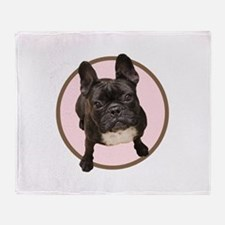 Unique French bull dogs Throw Blanket
