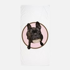 Cute English bulldogs Beach Towel