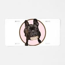 Unique French bull dogs Aluminum License Plate