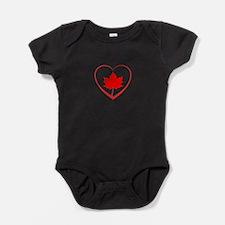 Maple Leaf Heart Baby Bodysuit