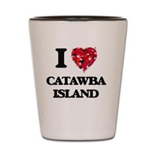 I love Catawba Island Ohio Shot Glass