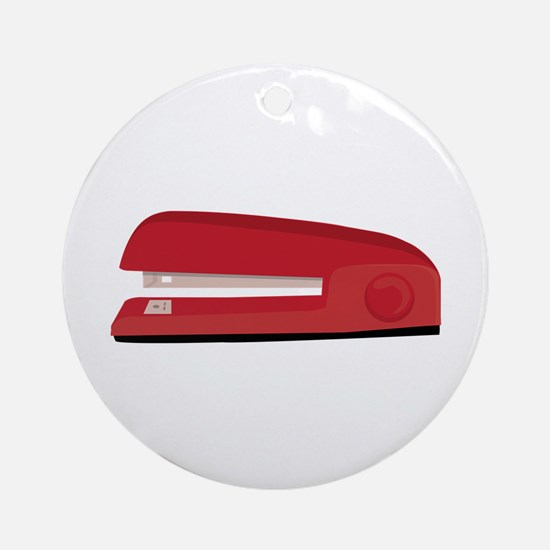 Stapler Round Ornament