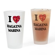 I love Hagatna Marina Guam Drinking Glass