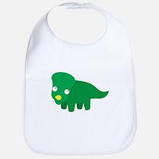 Cute green dinosaur Bib
