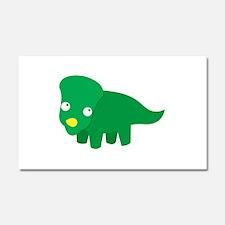 Cute green dinosaur Car Magnet 20 x 12