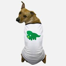 Cute green dinosaur Dog T-Shirt