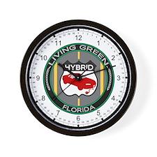 Living Green Hybrid Florida Wall Clock