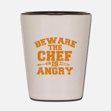 Cute Naked chef Shot Glass