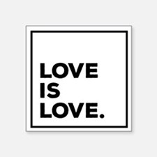 "Cute Love is love gay marriage Square Sticker 3"" x 3"""