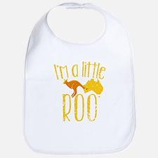 I'm a little Roo KANGAROO JOEY cute (distresse Bib