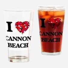 I love Cannon Beach Oregon Drinking Glass