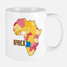 AFRICA map with regions political maps color Mugs