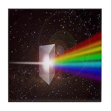 Space Prism Rainbow Spectrum Tile Coaster