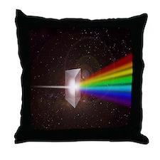 Space Prism Rainbow Spectrum Throw Pillow