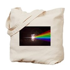 Space Prism Rainbow Spectrum Tote Bag