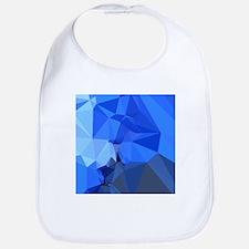 Brandeis Blue Abstract Low Polygon Background Bib