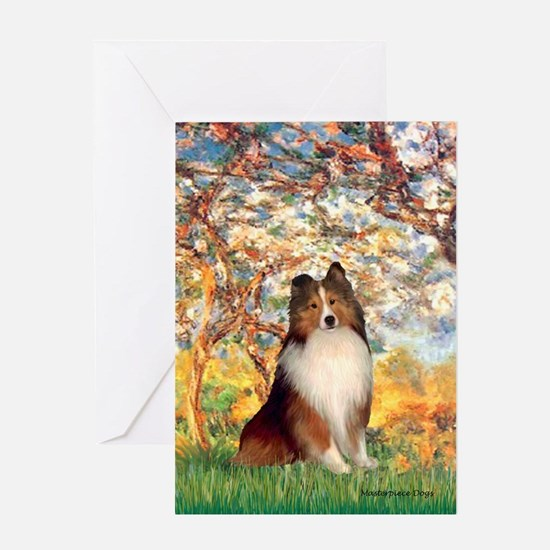 Spring / Sheltie (#1) Greeting Card