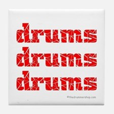 drums drums drums : Tile Coaster
