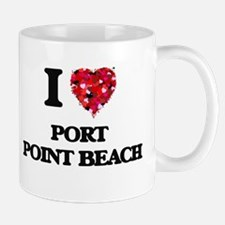 I love Port Point Beach Oregon Mugs