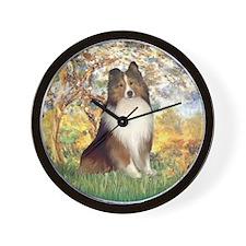 Spring / Sheltie (#1) Wall Clock