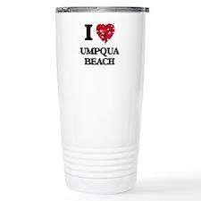 I love Umpqua Beach Ore Travel Coffee Mug