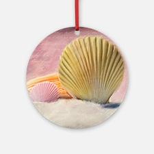 Vintage Shells Round Ornament