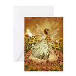 Fairy girl in fairy ring Greeting Cards